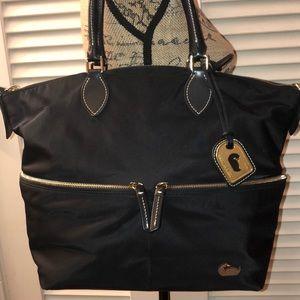 Dooney & Bourke Black Nylon Double Zip Bag